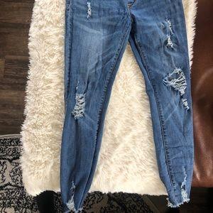 Distressed maternity jeans - sz s